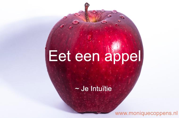 eet een appel boodschap intuïtie