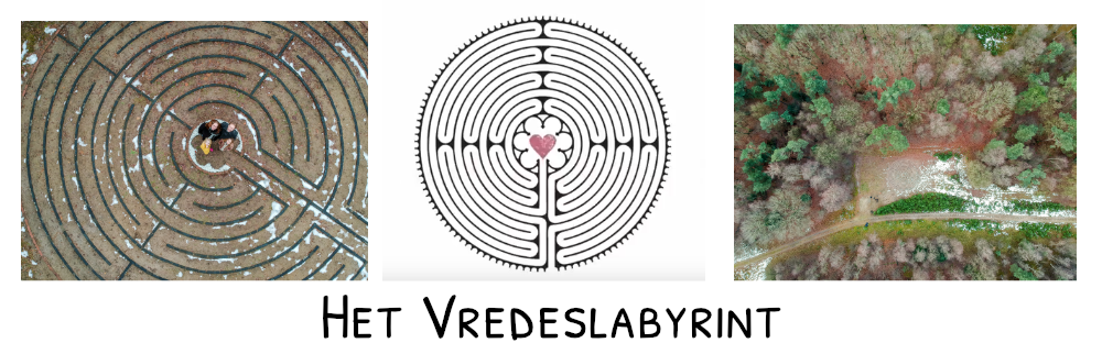vredeslabyrint website header met foto's
